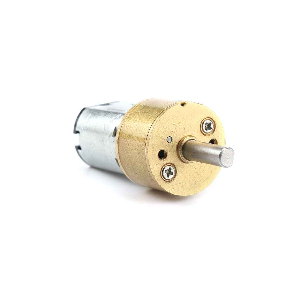 Arichtop 6V GA14-N20 Miniature DC Gear Motor 14mm Round Dustproof Reduction Gear Box for Electronic Lock/Bank Machine