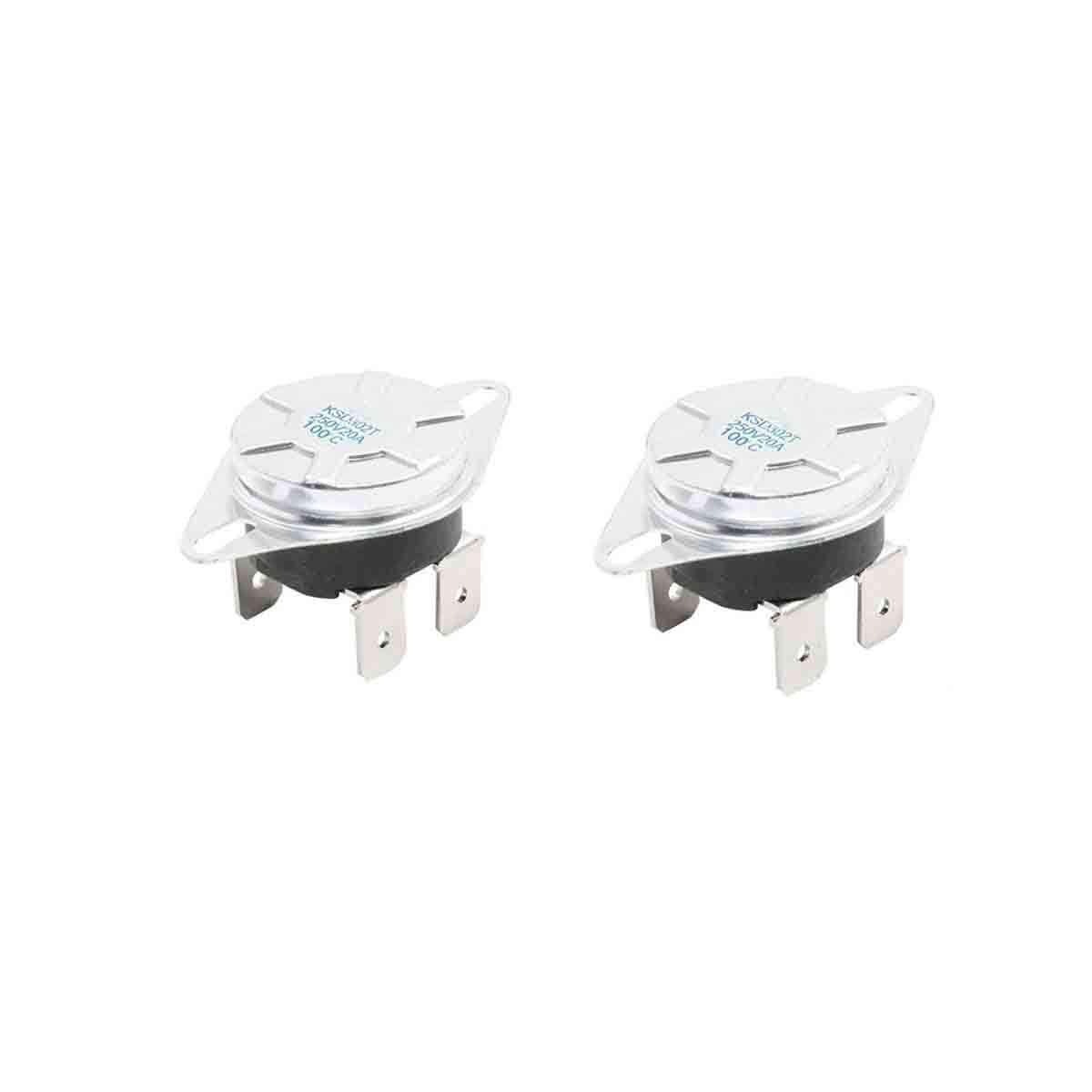 COMOK KSD302T 100 Celsius Manual Reset Thermostat For Household Electric Appliances 2Pcs