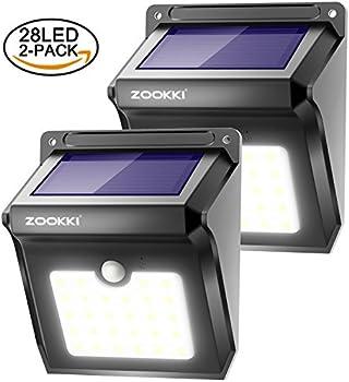 Zookki 2 Pack 28 LED Outdoor Solar Lights