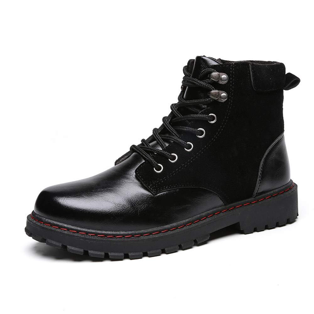 Stiefel Herren YAN Mikrofaser Schuhe Khaki,C,40 SchwarzGröße