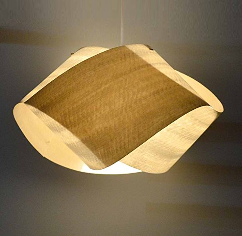 Amazon Com Handmade Beautiful Wood Veneer Pendant Lamp Nut