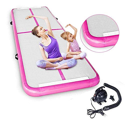 Seeutek 10'x3′ Inflatable Gymnastics Tumbling Mat Air Track with Electric Air Pump for Practice Gymnastics, Cheerleading Tumbling, Parkour and Martial Arts Review