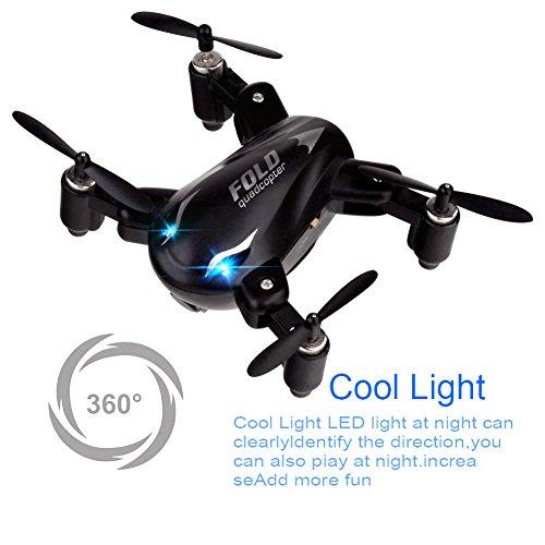 Mini Drones , Kingtoys Mini X31 Foldable 2.4G 4CH 6Axis RC 3D Roll Quadcopter Drone (Black)