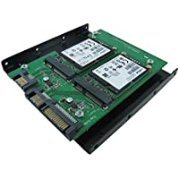 SATA III Dual Port to mSATA X 2 with 3.5 Inch Mounting Bracket