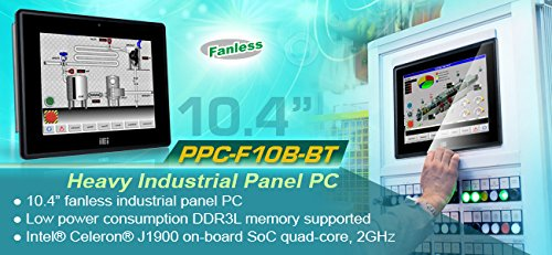 IEI 10.4インチファンレス産業用タッチパネルPC Intel Celeron J1900搭載 抵抗膜式タッチモデル PPC-F10B-BT-J1/2G/R