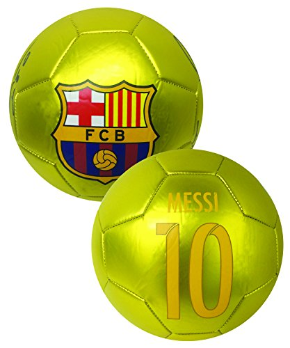 Messi Signature Soccer Ball GOLD Size #4, FC Barcelona Messi name, number and signature of the Best player of the (Signature Soccer Ball)