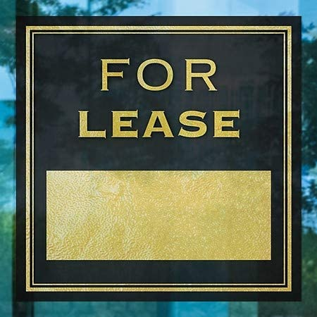 Classic Gold Window Cling 5-Pack for Lease 24x24 CGSignLab