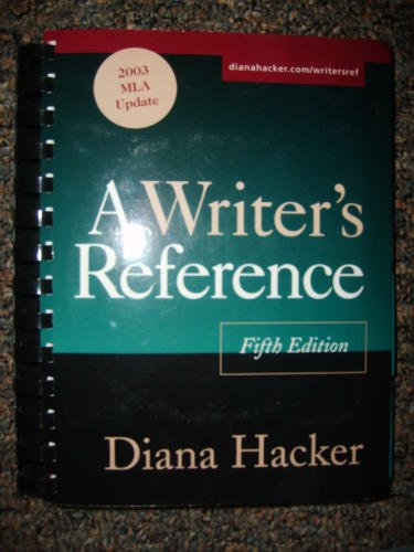 Writer's Reference with 2003 MLA Update, 5th Edition