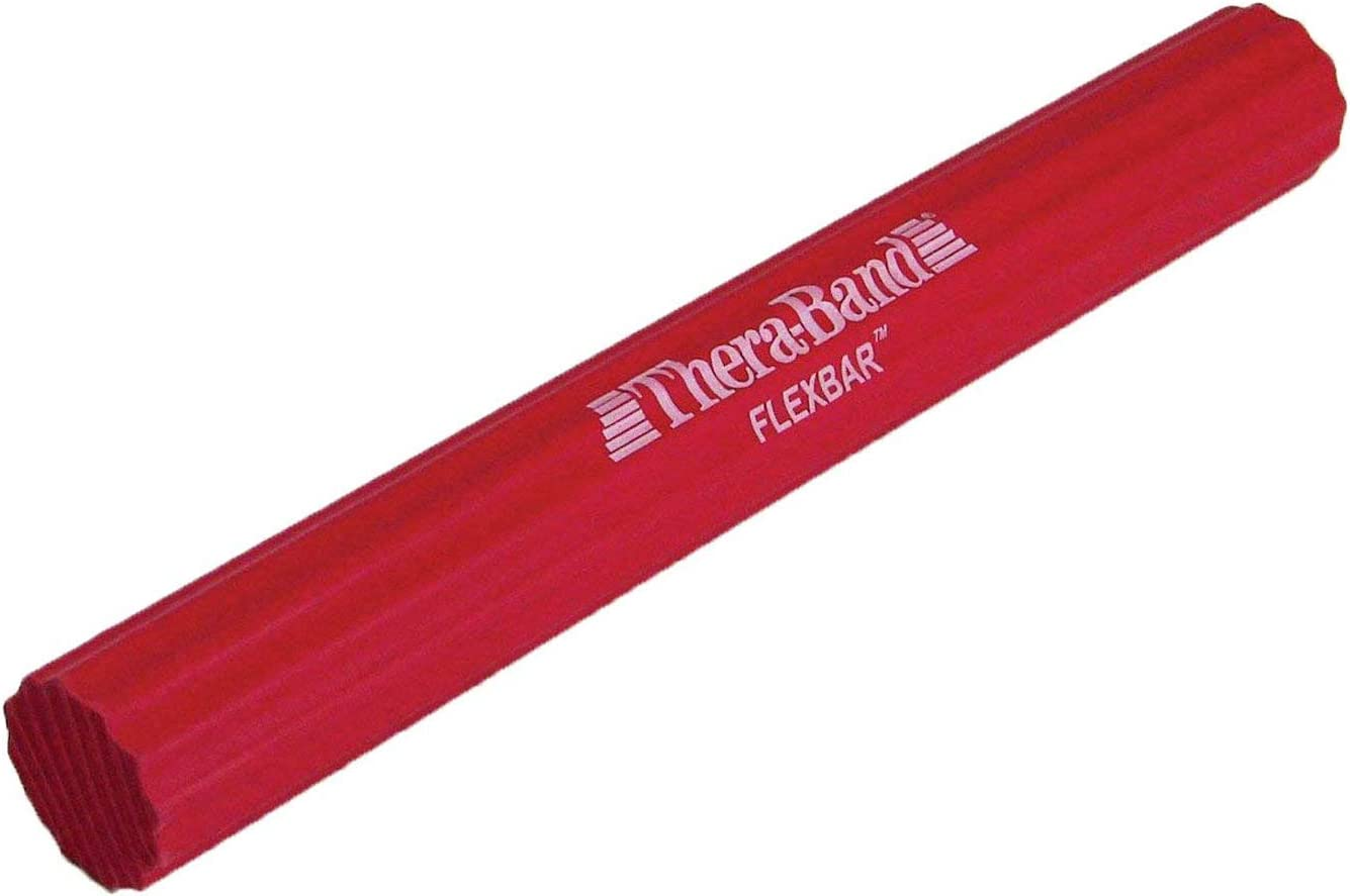 TheraBand FlexBar, Tennis Elbow Therapy Bar, Relieve Tendonitis Pain & Improve Grip Strength, Resistance Bar for Golfers Elbow & Tendinitis, Red, Light, Beginner: Sports & Outdoors