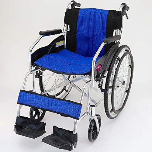 カドクラ チャップス 自走用車椅子 折りたたみ式 オーシャンブルー A101-AB B005MM24N2