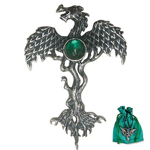 Der Drachenbaum Greenwood Anhänger Amulett aus Zinn - Schutz vor Gefahr