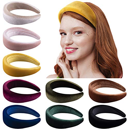 Fine Flannel Sponge Headband Solid Color Hairband Women Padded Hair Accessories
