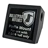 BulletProof Hitches Trailer Hitch Pintle Attachment Rated to 30,000lbs (Solid Steel, Black Epoxy Powder Coat)