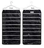 OUR Fashion Ohlily Hanging Jewelry Organizer Holder 56 Pockets Double Sided Storage for Necklaces, Earrings