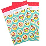 Inspired Mailers Poly Mailers 10x13 Owls - Pack of 100 - Unpadded Shipping Bags