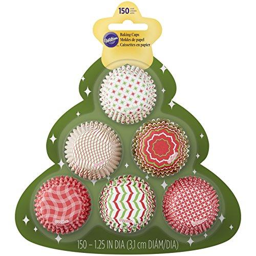 Mini Christmas Cupcake Liners 150 Count Tree