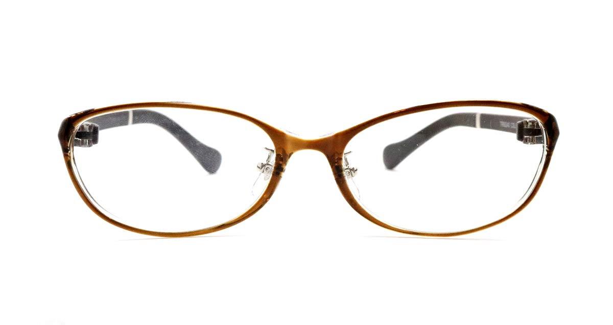 ピント調整力補助機能付き ザ サプリメガネ PCメガネ ブルーライト94%カット 紫外線ほぼ100%カット スマホにも最適 TR9240(ブラウン)(女性 普通) PD 女性 普通 ブラウン B07PNBTZ34