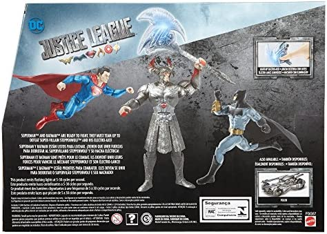 "2017 Action Figure Justice League 3Pk 6/"" SUPERMAN BATMAN /& 8/"" STEPPENWOLF FGG57"