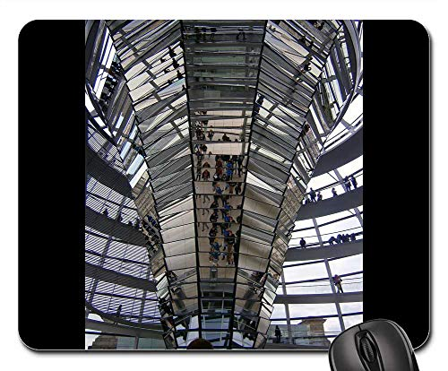 Mouse Pad - Glass Dome Berlin Reichstag Architecture Mirror 1