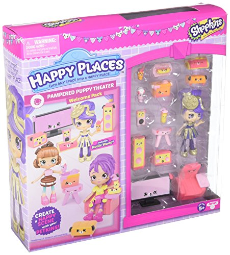 Happy Places Shopkins S3 Welcome Pack - Pampered Puppy Theatre]()
