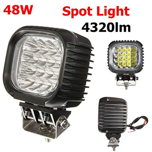 48W 16LED Spot Work Lamp Light Pencil Beam Off Road Boat -