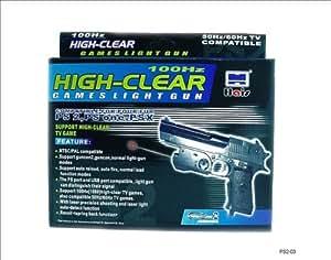 TGC ® PS1/PS2 100Hz (60/50 Hz compatible) Light Gun - High Clear [Importación Inglesa]