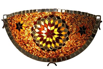 ON SALE Art-Win Lighting W10030-1/2 Brown Handmade Turkish Mosaic Wall Sconce Lamp