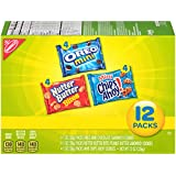 Nabisco Snack Pack Variety Mini Cookies Mix with Oreo Mini, Mini Chips Ahoy & Nutter Butter Bites, 12 Count Box, 12 Ounce