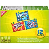 Nabisco Snack Pack Variety Mini Cookies Mix with Oreo Mini, Mini Chips Ahoy! & Nutter Butter Bites, 12 Count Box, 12 Ounce