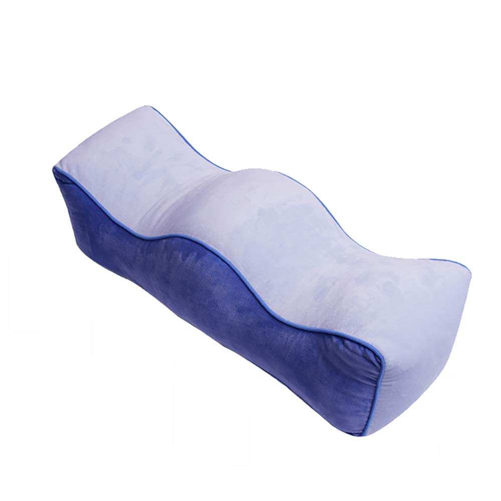 ZUEN Knee Pillow Leg Positioner, Washable Cotton Cover Reduced Stress on Spine Effective Support for Lumbar Leg Back and Side Sleepers Knee Pillow,Blue