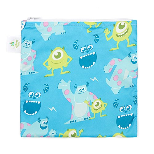 [Bumkins Disney Baby Reusable Snack Bag Large, Monsters Inc. Blue] (Baby Monsters Inc)