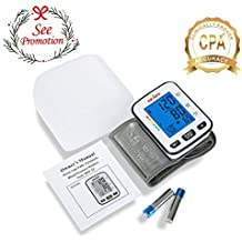 Automatic Blood Pressure Monitor Wrist Cuff Machine, Large Digital Screen, Easy to Use, Batteries Included, SEJOY BSP-22 Series