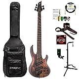 ESP LB1005SEMSRNS-KIT-1 B Series B-1005SE Multi-Scale 5-String Electric Bass Guitar, Natural Satin