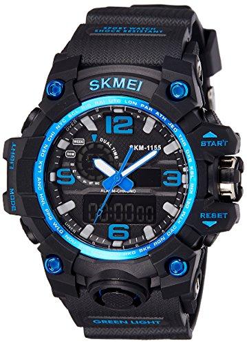Skmei Analog Digital Blue Dial Men #39;s Watch   1155BBBL