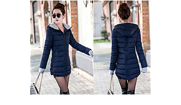 Amazon.com: PiterNace Warm;Cozy Fashion Winter Jacket Women Cotton Long Slim Hooded Parka Mujer Female Casual Winter Coat Plus Size New Chaqueta Mujer Rhodo ...