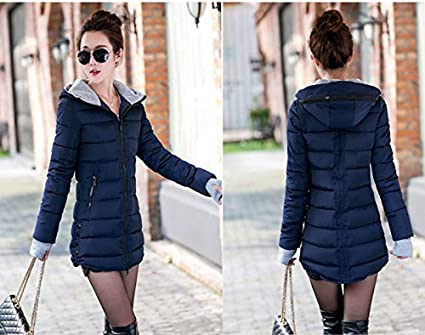 PiterNace Warm;Cozy Fashion Winter Jacket Women Cotton Long Slim Hooded Parka Mujer Female Casual