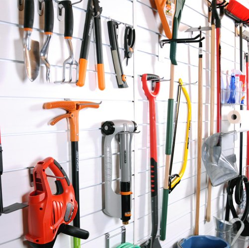 Heavy Duty PVC Slatwall Garage Organizer for Garden Tools