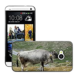 Super Stella Slim PC Hard Case Cover Skin Armor Shell Protection // M00146027 Cow Alm Landscape Graze Cattle // HTC One M7