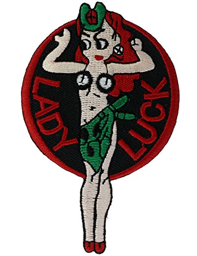 (Lady Luck Aviation Nose Art 3.5 inch Embroidered Patch)