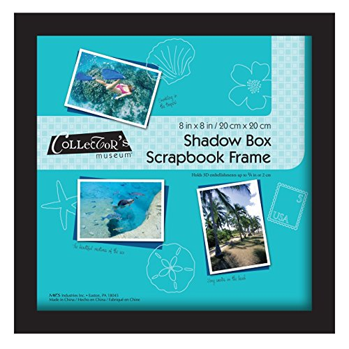 MCS Scrapbook Shadowbox Frame , 8 by 8-Inch, Black (40393)