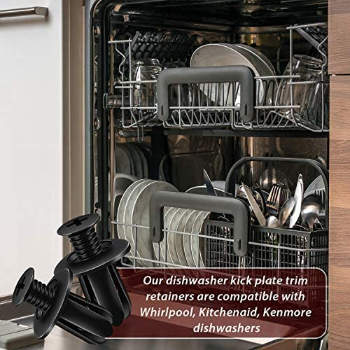 Kick Plate Trim Retainer for Whirlpool W10503548 WPW10503548VP Reyhoar 20 Pcs Dishwasher Access Panel Retainer Clip W10331789 PS11755736 Replace WPW10503548 Kenmore Kitchenaid