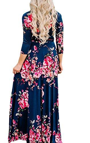 Print 3/4 Sleeve Dress - 3