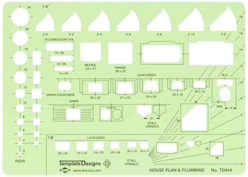 Alvin House Plan and Plumbing Template (TD444)