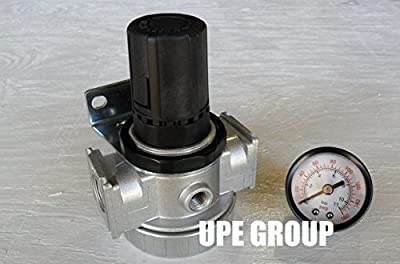 "1/2"" Air Pressure Regulator In line for Compressed Air Compressor w/ Gauge"