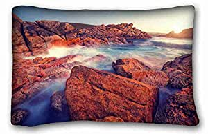 Custom Nature Custom Cotton & Polyester Soft Rectangle Pillow Case Cover 20x30 inches (One Side) suitable for King-bed