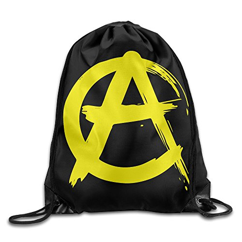 "Price comparison product image Anarcho Capitalism Golden A Symbol Sackpack Training Gymsack Drawstring Bag Drawstring Backpack Sport Bag Travel Bag Pouch Portable Backpack Rucksack Bagsack 16.9"" X 14.2"" Durable 210 D Polyester"