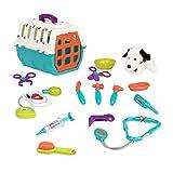 Battat - Dalmatian Vet Kit - Interactive Vet Clinic and Cage Pretend Play for Kids