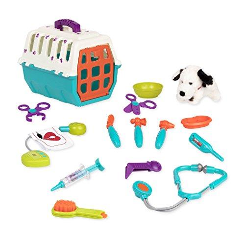 51A6sSjBlNL - Battat Vet Kit Clinic Interactive Pretend Role Play for Kids (15 pieces)
