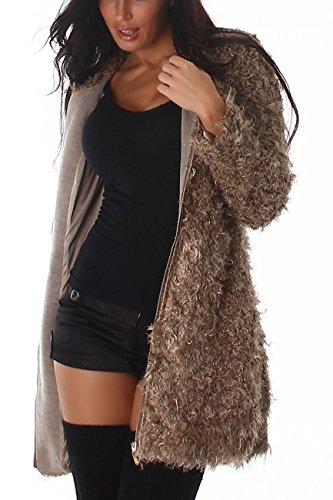 Jela - Abrigo - para mujer marrón