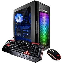 iBUYPOWER Enthusiast Gaming Desktop PC AM600R3 AMD Ryzen 3 1200 3.1GHz, AMD Radeon RX 550 2GB, 8GB DDR4 RAM, 1TB 7200RPM HDD, Win 10, Gaming Keyboard & Mouse